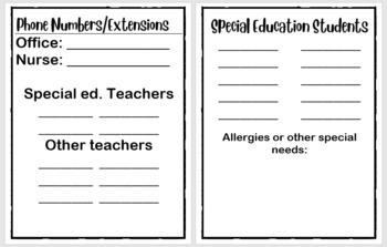 Editable** Sub Folder Sheets