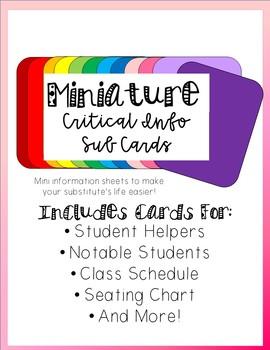 Editable Sub Info Cards