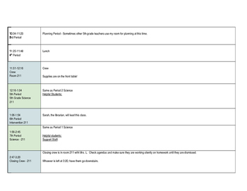 Editable Sub Plan Form