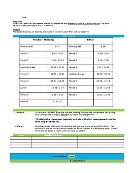 Editable Sub Plan Template