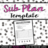 Editable Sub Plan Template