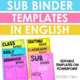 Editable Sub Plan Templates!
