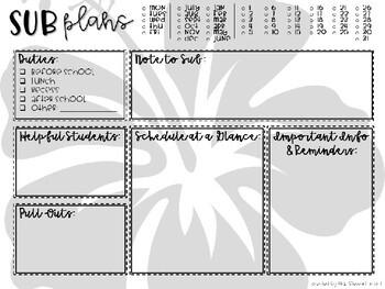 Editable Sub Plans