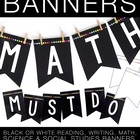 Editable Subject Banner – Black and White