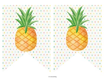 Editable Subject Banners - Pineapple Theme