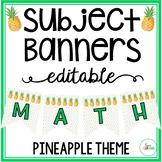 Editable Subject Banners - Pineapple Theme