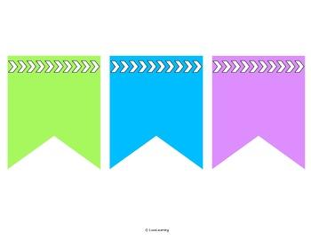 Editable Subject Banners - Rainbow Brights