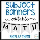 Editable Subject Banners - Shiplap Theme