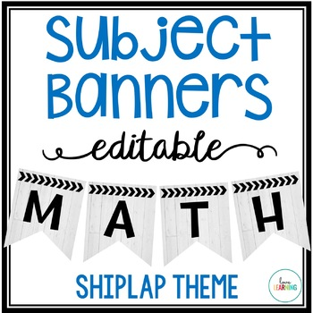 Editable Subject Banners - Shiplap Theme