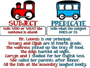 Editable Subject & Predicate Task Cards PLUS Cooperative Learning Activities