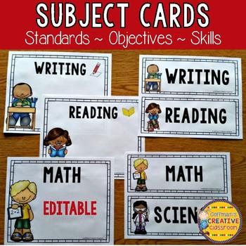 Objective Cards Editable