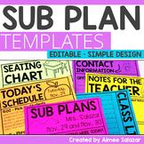 Editable Substitute Plan Templates