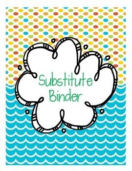 Editable Substitute Beach Binder