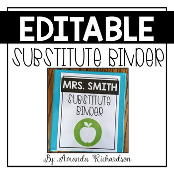 Substitute Binder (Editable): Short Term and Long Term Substitutes