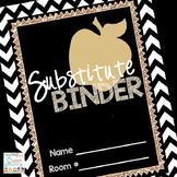 Substitute Binder Editable Printable | Sub Teacher Binder