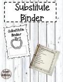 FREE Editable Substitute Binder