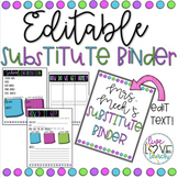 Editable Substitute Binder (B&W Version also included)