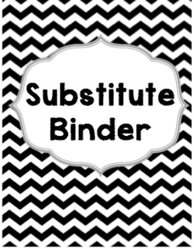 Editable Substitute Binder Chevron