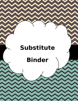 Editable Substitute Binder -Chevron Backgrounds