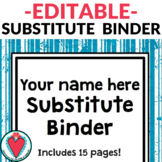 Editable Substitute Binder Cover & Pages PowerPoint