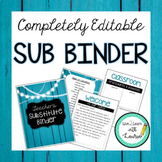 Editable Substitute Binder Forms