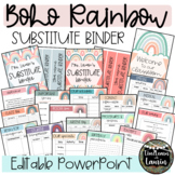 Editable Substitute Binder Forms (BOHO RAINBOW)