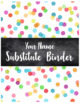 Editable Substitute Binder Forms (Confetti Theme)