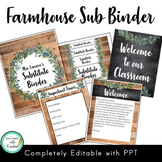 Editable Substitute Binder Forms (Farmhouse Classroom Decor)