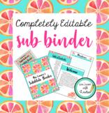 Editable Substitute Binder Forms (Grapefruit Theme)