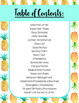 Editable Substitute Binder Forms (Pineapple Theme)