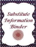 Editable Substitute Binder (Patriotic Theme)