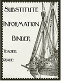 Editable Substitute Binder (Pirate Theme)