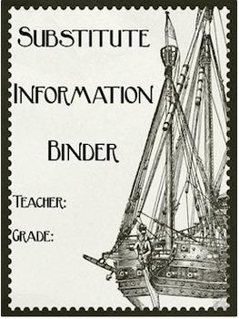 Editable Substitute Binder (Pirate Theme)
