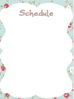 Editable Substitute Binder (Pretty Theme)