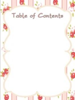 Editable Substitute Binder (Pretty Theme)