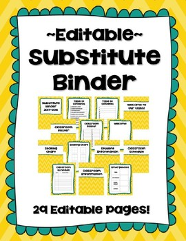 Editable Substitute Binder (Yearly Update)