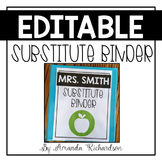 Substitute Binder (Editable): Short Term and Long Term Sub