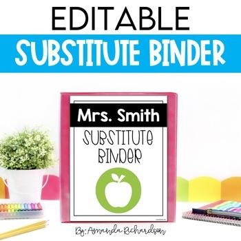 Substitute Binder (Editable): Short Term and Long Term Sub