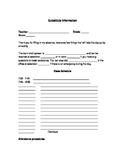 Editable Substitute Form