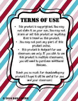 Editable Substitute Guide Blue and Red Striped Style