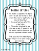 Editable Substitute Guide Blue and Green Chevron Style