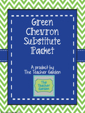 Editable Substitute Packet (Green Chevron)