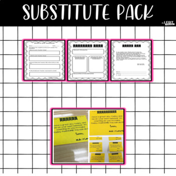 Editable Substitute Packet-  {Includes an activity!}