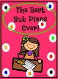 Editable Substitute Plan!