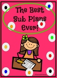 Editable Substitute Plan!