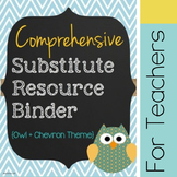 Substitute Binder - Chevron - CUSTOMIZABLE!
