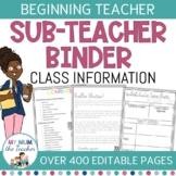 Editable Substitute Teacher Binder | Relief Teacher Binder