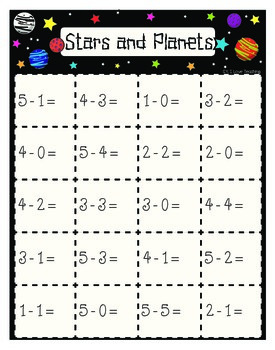 Editable Subtraction Game: Stars and Planets