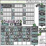 Editable Succulent Calendar Kit