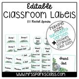 Editable Succulent Classroom Labels (Includes Scrapbook Ca